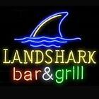 "New landshark bar grill Man Cave Real glass Neon Sign 32""x24"" Beer Lamp Light"