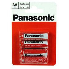 4 PACK AA Panasonic Heavy Duty Zinco ORIGINALI CARBONIO 1.5 V R6,