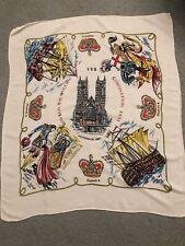 More details for vintage scarf square coronation