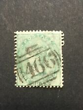 GB 1855/1857 1 shilling n°20 filigrane fleurs cachet 466 cote 200 €