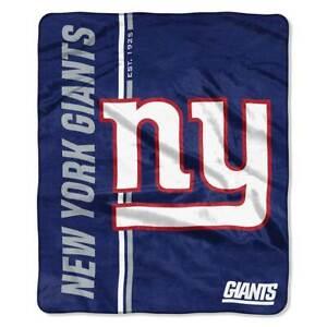 "New York Giants 50"" x 60"" Plush Throw Blanket (NFL - Restructure)"