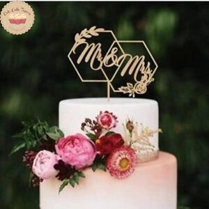 ⭐Mr & Mrs Cake Topper for Wedding Cake Decoration Special Ocassion Cake Toppers⭐