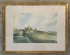 "original  watercolor ""Landscape"" signed Burton Silverman"