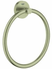 Grohe ESSENTIALS TOWEL RING 201mm Wall Mounted BRUSHED NICKEL *German Brand