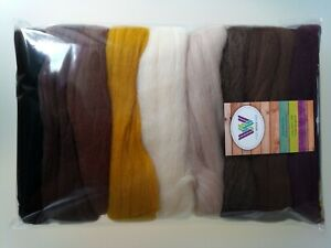 Brown sets* Pure Merino Wool for Needle and Wet Felting packs of 30, 60 or 90 g