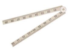 Faithfull 1m/ 39-inch Folding Rule ABS Plastic - White