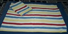 2-WIDE STRIPE TICKING PILLOW COVERS-COUNTRY-DECORATE-SOFA-TOSS-FABRIC STACK