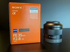 Sony 35mm F2.8 Sonnar T FE ZA Full Frame Prime Fixed Lens E-Mount Cameras Black
