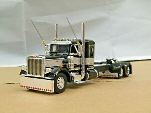 "1/64 Dcp CUSTOM stretched frame black/silver Peterbilt 359 36""bunk new no box"