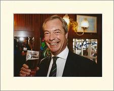 NIGEL FARAGE UKIP LEADER PP 8x10 MOUNTED SIGNED AUTOGRAPH PHOTO SECRET SANTA