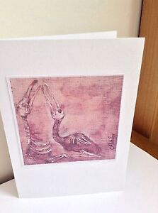 Skull, Birds skeleton, Fantasy,Unique Gift Card Printed from original Signed,