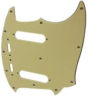For Fender 3-Ply US Mustang Classic Series Style Guitar Pickguard,Vintage Yellow