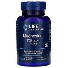 Life Extension, Magnesium, 160 mg, 100 Vegetarian Capsules