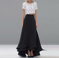 2016 New Black Hi-Lo New Women Skirts Lady Chiffon Long Maxi Party Prom Dresses