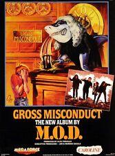 M.O.D. 1989 Gross Misconduct Original Promo Poster Anthrax