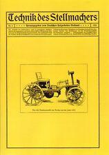 Technik des Stellmachers Nr.4/1924  Stellmacher Wagner Wagenbau Wagnerei Reprint