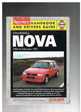 NEW HAYNES HANDBOOK AND DRIVERS GUIDE VAUXHALL NOVA 1983 TO 1992 1820