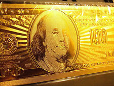 New listing 24 Karat United States 100 Dollar-Collectible Note ,Comes In Hard Slab Holder