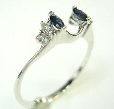 WRAP ENHANCER GUARD RING WITH SAPPHIRE & DIAMONDS
