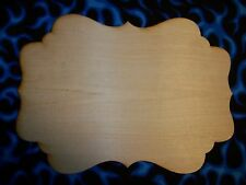 Unfinished Wooden Wood Plaque #P03 Large - 11.5'' x 18""