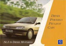 Peugeot Diesel 1993-94 UK Market Sales Brochure 106 205 306 405 605