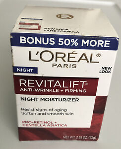 L'Oréal Revitalift Anti-Wrinkle Firming Face & Eye Night Cream Moisturizer