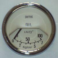 Classic Mini Smiths Oil Pressure Gauge 52mm - Magnolia 13H4459MG