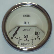 Classic Mini Smiths Oil Pressure Gauge 52mm - Magnolia 13H4459MG