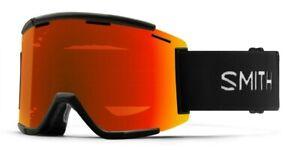 Smith Squad XL MTB/Bike Goggles Black ChromaPop Everyday Red + Bonus Lens New