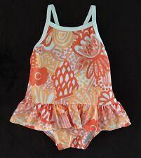 New GYMBOREE SWIM / BATHING SUIT One Piece Orange Floral Size 6 - 12 Months NWOT