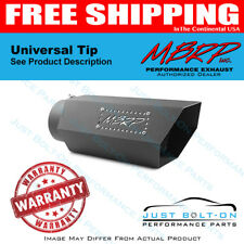 MBRP Universal Hex Tip 5in Inlet 16in Length w/ Logo - Black Coated T5166BLK