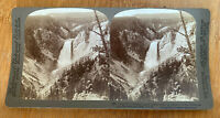 From Pt. Lookout to Lower Falls, Yellowstone Park U.S.A. – 1904 Stereoview Slide