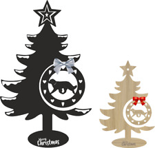 More details for leonberger christmas tree and bauble xmas dog table decoration