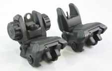 Tactical Front & Rear sight dual aperture Set Flip Up Back Up Sight 223 Polymer