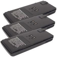 3x 9.6V 700mAh Ni-MH 2way Radio Battery Fits Alinco DJ-193,  DJ-195,  DJ-195T