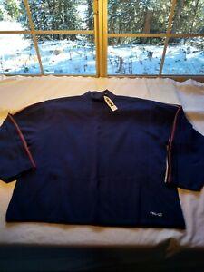 Reusch Wool Long Sleeve Blue Ski Sweater Rare Sz XL with tags  k5