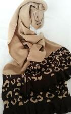 NEW Fawn and Brown animal print Knitted Heritage Scarf Wool blend