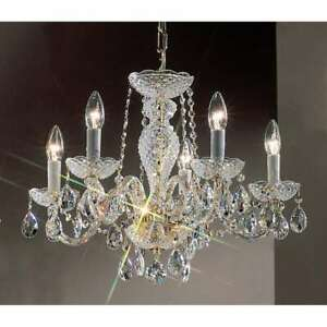 Classic Lighting Monticello Crystal All Glass Chandelier, Gold Plated - 8205GPI