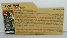 GI Joe File Card for Capt Ace v2 2008 25th Anniversary Series