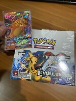 XY Evolutions Booster Box Pokemon Factory Sealed - 36 Booster Packs+Charizard GX