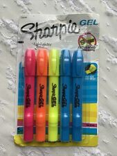 New listing Sharpie Gel Stick Highlighters 5 Colors Won't Bleed or Smear Ink Free Technology