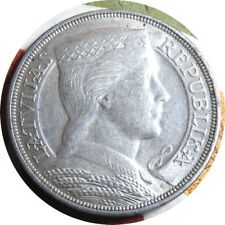 elf Latvia 1st Republic 5 Lati 1929 Silver