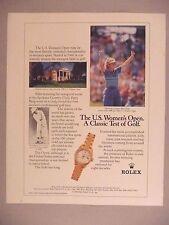 Rolex Watch PRINT AD - 1991 ~ wristwatch,Betsy King,Patty Berg,Women's Open Golf