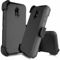 For Samsung Galaxy J7 2018 Star Hybrid Case Armor Cover (fit Otterbox Belt Clip)