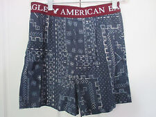 AMERICAN EAGLE~Gray Blue Geometric Shapes BOXERS UNDERWEAR~Mens XS~NWOT