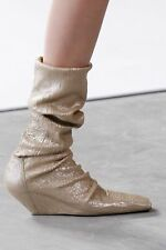 RICK OWENS RUNWAY SS17 WAL IVORY Wedge BOOTS Shoes (39)