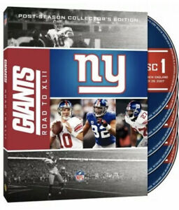 NFL New York Giants-Road To Super Bowl XLII 42 4x [DVD] * NEW *