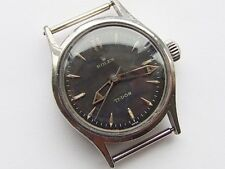 Rare vintage Rolex Tudor Oyster S/Steel 1940s black dial watch for repair