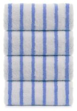 Set Of 4 White Blue Stripe Hotel Cabana Beach Towels Pool Towel 30x60