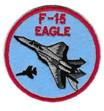 [Patch] AEREO F-15 EAGLE AERONAUTICA diametro cm 8 toppa ricamo REPLICA -705